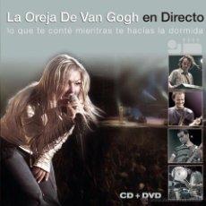 Vídeos y DVD Musicales: LA OREJA DE VAN GOH EN DIRECTO LA OREJA DE VAN GOGH FORMATO DVD MAS CD DESCATALOGADO. Lote 51381476