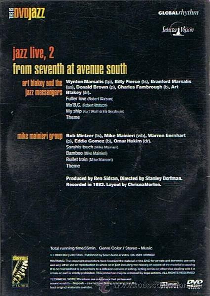 Vídeos y DVD Musicales: DVD ART BLAKEY WYNTON & BRANFORD MARSALIS JAZZ LIVE VOL.2 - Foto 2 - 52013701