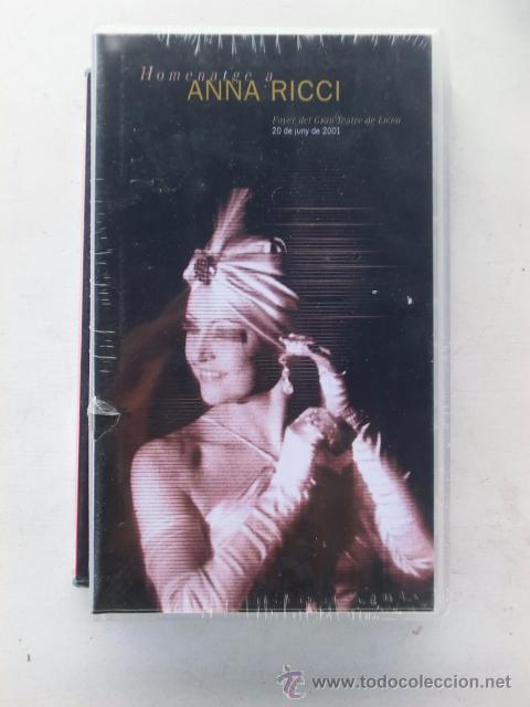 VHS - HOMENATGE A ANNA RICCI - CONCIERTO CELEBRADO EN EL LICEO 2001 - LICEU - ÓPERA NUEVO A ESTRENAR (Música - Videos y DVD Musicales)