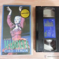 Vídeos y DVD Musicales: MADONNA CIAO ITALIA - LIVE FROM ITALY - VHS VIDEO -1998 -. Lote 52317604