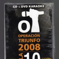 Vídeos y DVD Musicales: CD + DVD KARAOKE OPERACIÓN TRIUNFO 2008 (GALA 10) · PRECINTADO. Lote 53087302