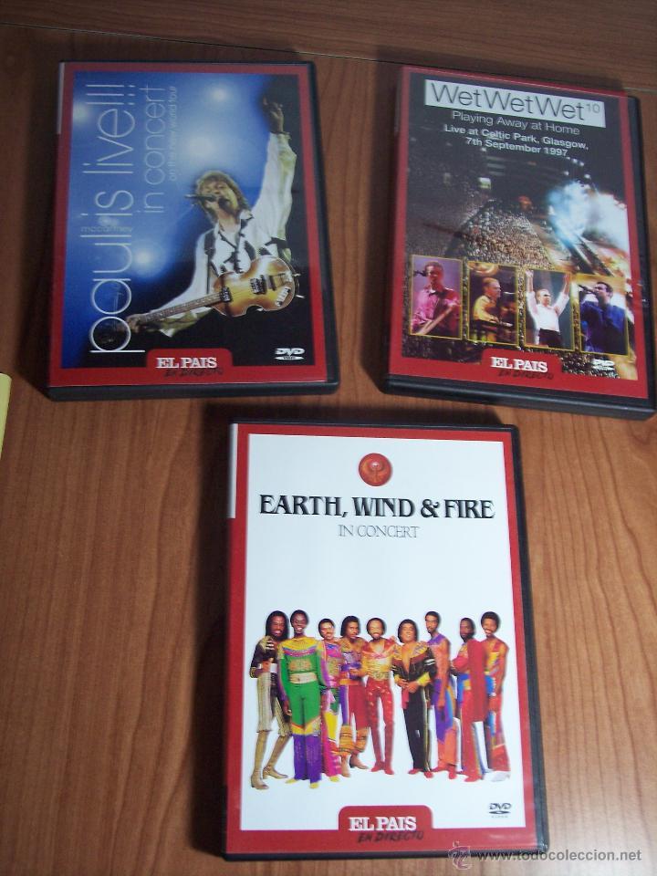 Vídeos y DVD Musicales: LOTE DE DVD (EL PAIS EN CONCIERTO)-PAUL McCARTNEY / WET WET WET / EARTH,WIND & FIRE - Foto 2 - 53571312