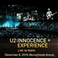Vídeos y DVD Musicales: U2 - INNOCENCE + EXPERIENCE TOUR - ACCORHOTELS ARENA, PARIS, 6 DECEMBER 2015 (DVD). Lote 134117073