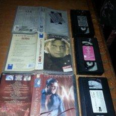 Vídeos y DVD Musicales: COLECCIONISTAS DEL CANTANTE LUIS MIGUEL EN VHS VER FOTOS , CINTAS CONCIERTOS . Lote 54108908