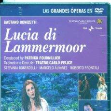 Vídeos y DVD Musicales: LUCIA DI LAMMERMOOR (GAETANO ONIZETTI) DVD. Lote 54169009