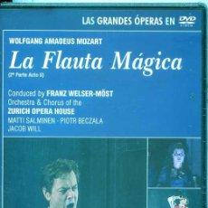 Vídeos y DVD Musicales: LA FLAUTA MAGIVA (WOLFGANG AMADEUS MOZART) DOBLE DVD. Lote 54169066