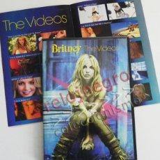 Vídeos y DVD Musicales: BRITNEY THE VIDEOS - DVD MÚSICA POP - LOS VIDEOS DE SPEARS -EN INGLÉS - MAKING OF - JOY OF PEPSI ETC. Lote 54506534