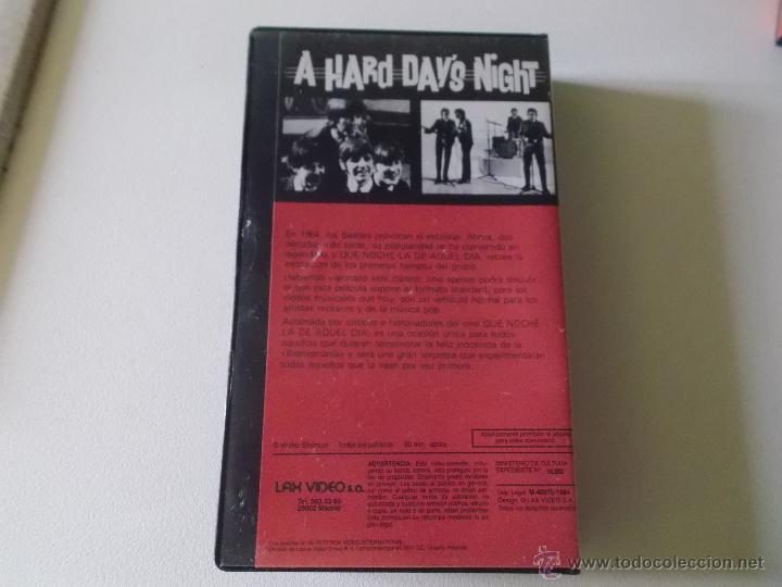 Vídeos y DVD Musicales: THE BEATLES - QUE NOCHE LA DE AQUEL DIA - VIDEO VHS 1984 - Foto 2 - 54721691