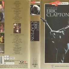 Vídeos y DVD Musicales: ERIC CLAPTON - THE CREAM OF ERIC CLAPTON VIDEO VHS.. Lote 55007460