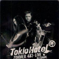 Vídeos y DVD Musicales: TOKIO HOTEL, ZIMMER 483 LIVE IN EUROPE. Lote 55022655
