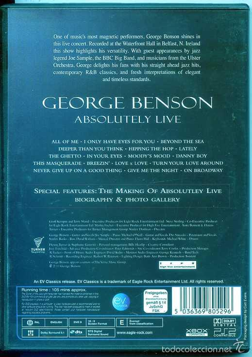 GEORGE BENSON / ABSOLUTELY LIVE (DVD MUSICAL)