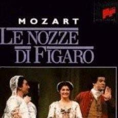 Vídeos y DVD Musicales: W.A. MOZART : LE NOZZE DI FIGARO (VHS). Lote 56288396