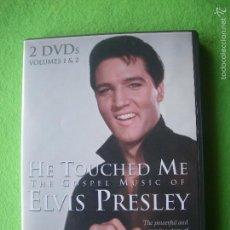 Vídeos y DVD Musicales: ELVIS PRESLEY HE TOUCHED ME THE GOSPEL MUSIC OF ..2DVDS VOLUMEN 1 Y 2 UK 2000. Lote 56599654