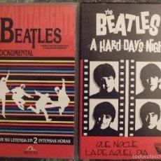 Vídeos y DVD Musicales: VHS LOTE BEATLES - ABSOLUTAMENTE EL ROCKUMENTAL Y A HARD DAY'S NIGHT - BUEN ESTADO. Lote 57242884