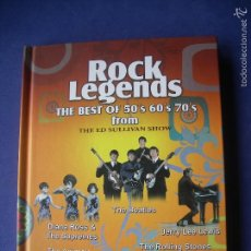 Vídeos y DVD Musicales: ROCK LEGENDS THE BEST OF 50 S 60 S 70 S FROM DVD LIBRO DVD PEPETO. Lote 57535920