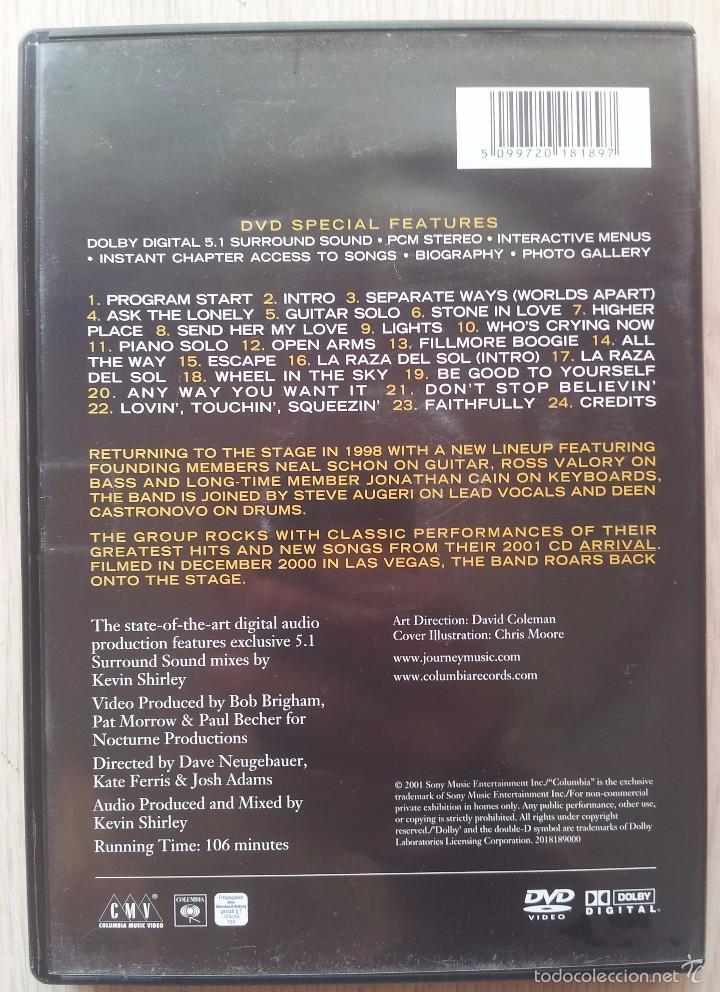 Vídeos y DVD Musicales: JOURNEY - 2001 - DVD - Foto 2 - 57665299