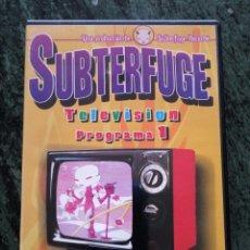 Vídeos y DVD Musicales: DVD SUBTERFUGE TELEVISION 1. Lote 58584867