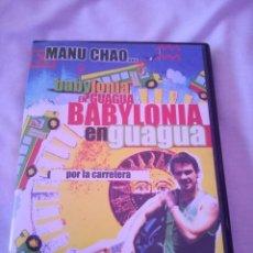 Vídeos y DVD Musicales: MANU CHAO BABYLONIA EN GUAGUA DVD LIVE RADIO BEMBA, MANO NEGRA. Lote 59119975