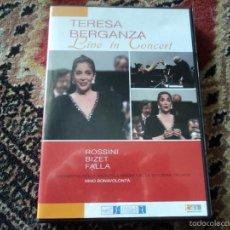 Vídeos y DVD Musicales: TERESA BERGANZA LIVE IN CONCERT 1990 LUGANO. Lote 60149871