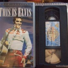 Vídeos y DVD Musicales: THIS IS ELVIS - WARNER VERSION INGLESA - VHS. Lote 60449743