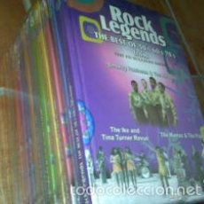 Vídeos y DVD Musicales: ROCK LEYENDS THE BEST OF 50´S 60´S 70´S FROM THE ED SULLIVAN SHOW 12 LIBROS + DVD. Lote 60746171