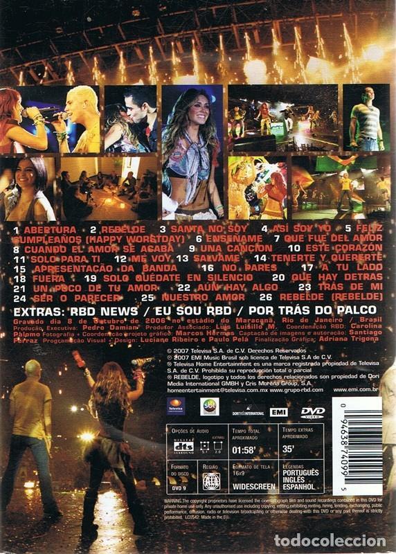 dvd de rbd live in rio