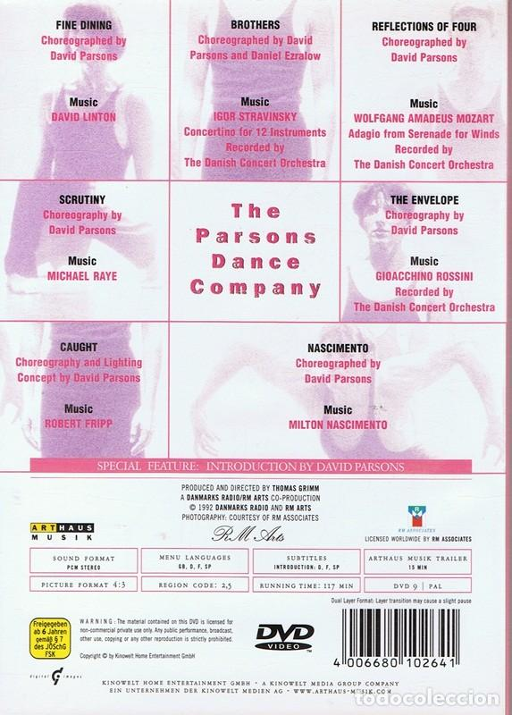 Vídeos y DVD Musicales: DVD THE PARSONS DANCE COMPANY - Foto 2 - 62925828