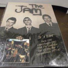 Vídeos e DVD Musicais: DVD. THE JAM - ITS LIVE PARIS 1981 DIGIPAK PRECINTADO. Lote 63165628