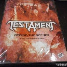Vídeos y DVD Musicales: DVD. TESTAMENT - BEIND THE SCENES DIGIPAK PRECINTADO. Lote 64013939