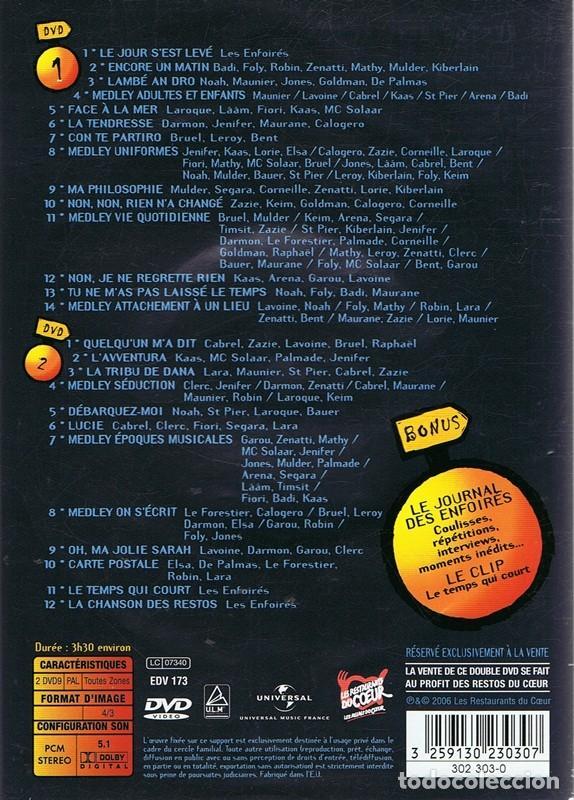 Vídeos y DVD Musicales: DVD LE VILLAGE DES ENFOIRÉS 2006 ( 2 DISCOS) - Foto 2 - 64740939