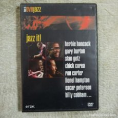 Vídeos y DVD Musicales: JAZZ IT - HERBIE HANCOCK, GARY BURTON… - DVD 2003 . Lote 66240590