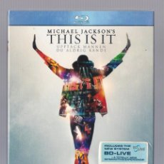 Vídeos y DVD Musicales: MICHAEL JACKSON - MICHAEL JACKSON'S THIS IS IT (BLU-RAY 2010, SONY PICTURES ENTERTAINMEN SSSB 69320). Lote 68158185