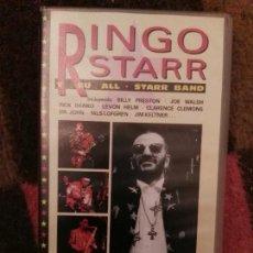 Vídeos y DVD Musicales: RINGO STARR Y SU ALL STARR BAND (1990) - VIDEO VHS ESPAÑA 60 MINUTOS BEATLES CONCIERTO. Lote 68481441