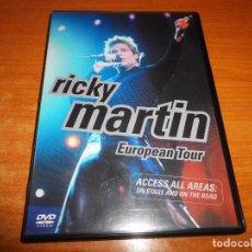 Vídeos y DVD Musicales: RICKY MARTIN EUROPEAN TOUR 2001 DVD ESPAÑA DURACION 78 MINUTOS CONTIENE 9 TEMAS. Lote 75629531