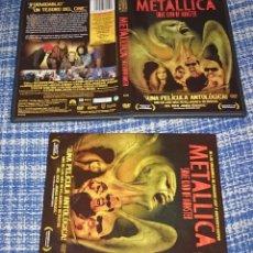 Vídeos y DVD Musicales: METALLICA SOME KIND OF MONSTER 2 DVD´S + 4 POSTALES CON CUBIERTA DE CARTON. Lote 26565198