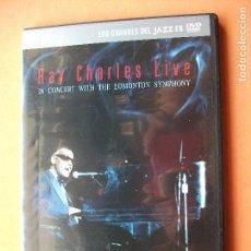 Vídeos y DVD Musicales: RAY CHARLES LIVE - DVD PRECINTADO - CONCIERTO - MÚSICA JAZZ - CANTANTE EEUU . JAZZ PEPETO. Lote 76890823