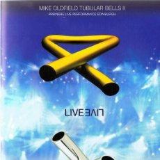 Vídeos y DVD Musicales: DVD MIKE OLDFIELD TUBULAR BELLS II & III LIVE. Lote 81686496