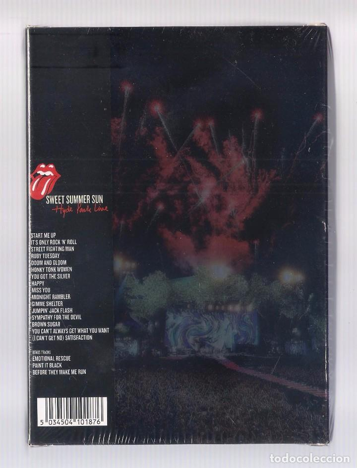 Vídeos y DVD Musicales: THE ROLLING STONES - Sweet Summer Sun. Hyde Park Live (caja DVD + camiseta, ed. limitada) PRECINTADO - Foto 2 - 83891304