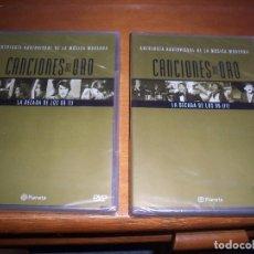 Vídeos y DVD Musicales: 2 DVDS CANCIONES DE ORO, LA DECADA DE LOS 60, I Y II. EDICION PLANETA. NUEVO PRECINTADO.. Lote 84642360