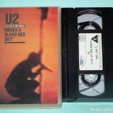 Vídeos y DVD Musicales: VHS - U2 UNDER A BLOOD RED SKY. Lote 85156156