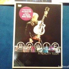 Vídeos y DVD Musicales: DVD DIGIPAK DAVID BOWIE ( A REALITY TOUR ) 2004 ISO RECORDS 140 MINUTOS 30 CLASICOS NUEVO. Lote 86320312