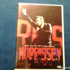 Vídeos y DVD Musicales: DVD MORRISSEY ( WHO PUT THE 'M' IN MANCHESTER? ) 2004 ATTACK FILMS COMO NUEVO. Lote 86320364