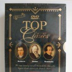 Vídeos y DVD Musicales: TOP CLASICS BEETHOVEN BRAHMS MENDELSSOHN 3DVD 3CD. Lote 86765820