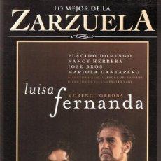 Vídeos y DVD Musicales: DVD LO MEJOR DE LA ZARZUELA ¨LUISA FERNANDA¨. Lote 90356428