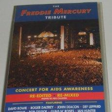 Vídeos y DVD Musicales: 2 X VHS- THE FREDDIE MERCURY TRIBUTE - QUEEN,BOWIE,METALLICA,GUNS N ROSES, -VHS. Lote 92735095
