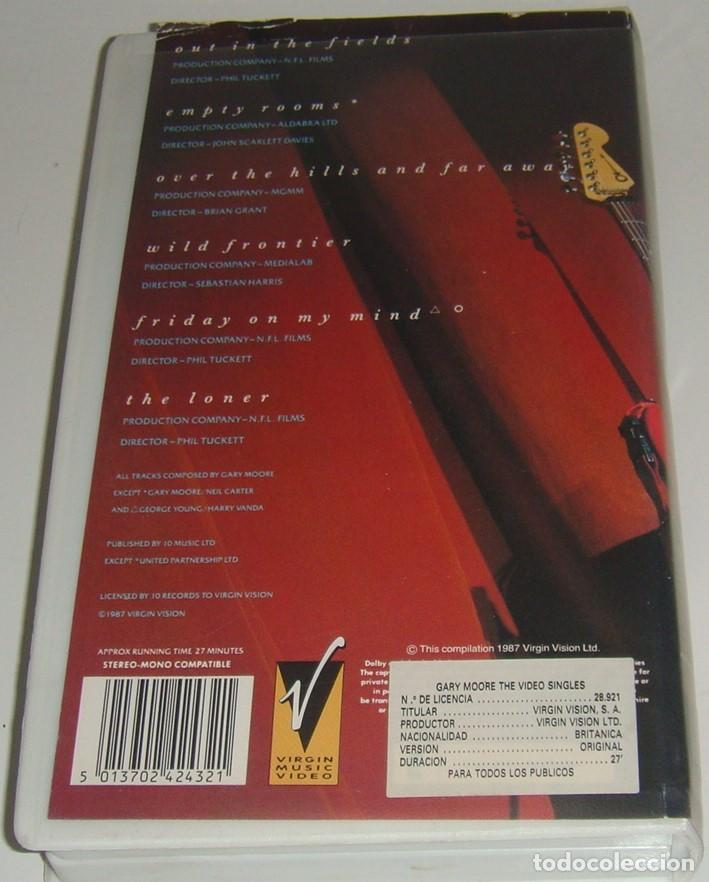 Vídeos y DVD Musicales: VHS - GARY MORE - THE VIDEO SINGLES - GARY MOORE - VHS - Foto 2 - 194256910