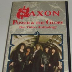 Vídeos y DVD Musicales: VHS - SAXON - POWER & THE GLORY - THE VIDEO ANTHOLOGY - SAXON - VHS. Lote 108196844