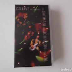 Vídeos y DVD Musicales: JOE SATRIANI, ERIC JOHNSON, STEVE VAI - G3 LIVE IN CONCERT. Lote 92896225