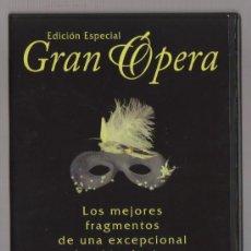 Vídeos y DVD Musicales: DVD GRAN OPERA - LOS MEJORES FRAGMENTOS DE OPERA - EDICION ESPECIAL - COMO NUEVO - UN SOLO USO. Lote 93096820