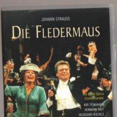 Vídeos y DVD Musicales: DVD OPERA - DIE FLEDERMAUS (EL MURCIELAGO) - HERMANN PREY Y KIRI TE KANAWA - COMO NUEVO-UN SOLO USO. Lote 93096890